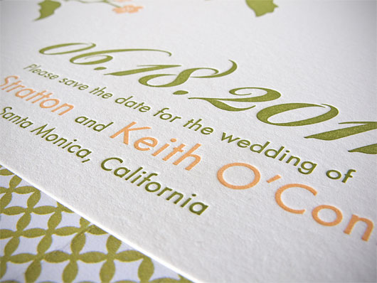 The end result is a stunning letterpress wedding invitation at a price that