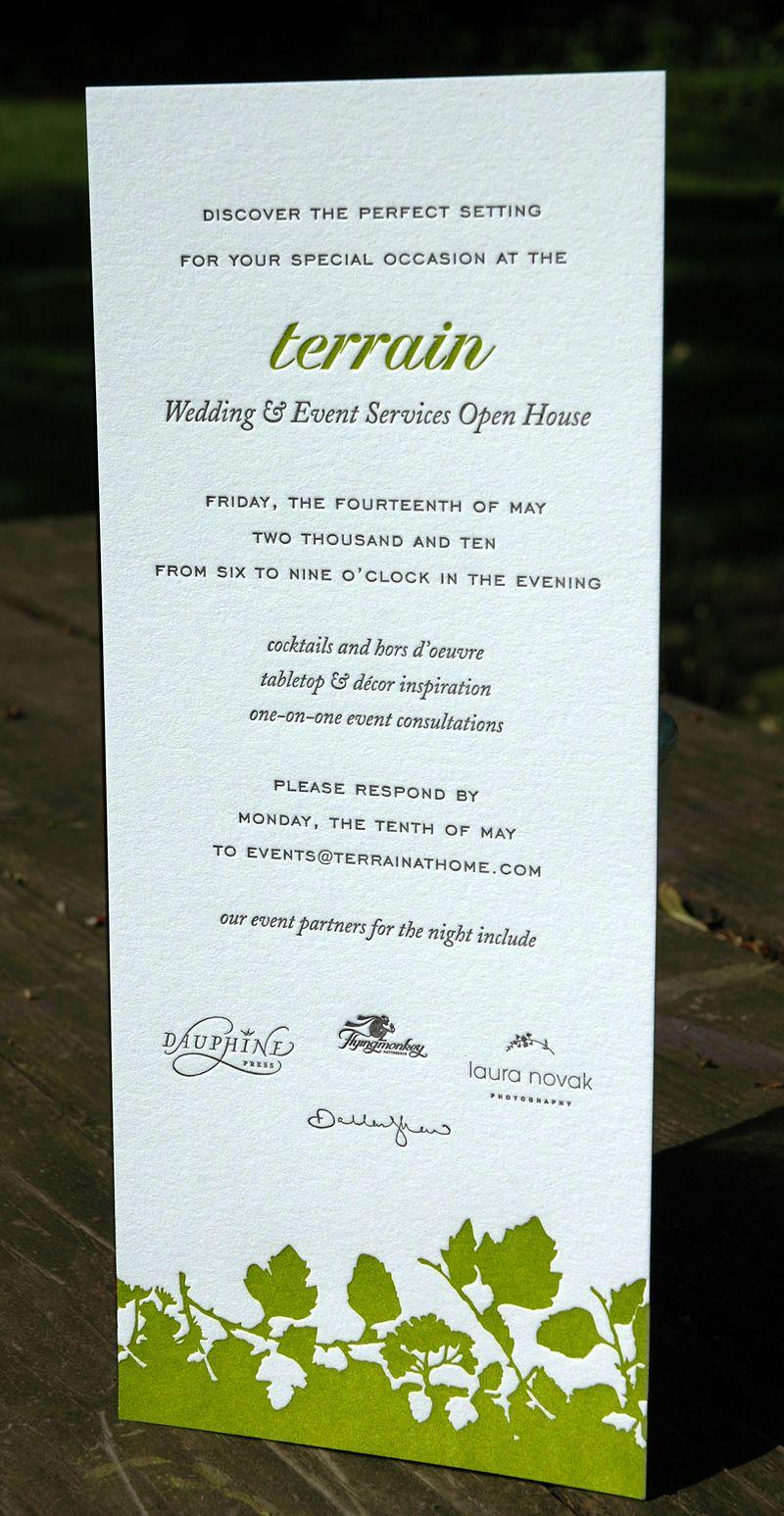 Terrain invitation